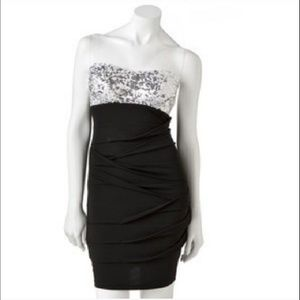 City Triangles Sequin Top Bodycon Party Dress